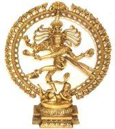 Shiva Nataraj messing 1 kleur middelmaat - 48 cm - 8400 g