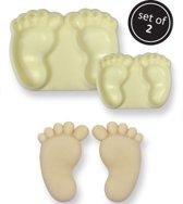 JEM Pop it uitsteker/mal Baby feet (baby voetjes) set/2