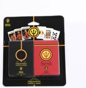 Speelkaarten Rode Duivels - Belgian Red Devils Playing Cards Duopack Original and Action Image - WK Belgie