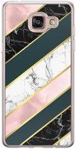 Samsung Galaxy A5 2016 siliconen hoesje - Marble stripes