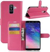 Book Case Hoesje Samsung Galaxy A6 Plus (2018) - Roze