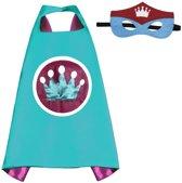 Prinses Blauw - Superhelden Kostuum cape voor kinderen 3 tot 10 jaar