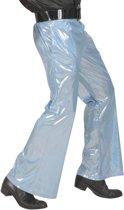 Blauwe glitter disco broek voor mannen - Verkleedkleding