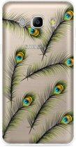 Galaxy J5 2016 Hoesje Peacock Feathers