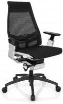 hjh office Genidia Smart White CM - Bureaustoel -  Netstof - Zwart / wit / chroom