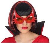 Halloween/horror duivel bril rood voor volwassenen - Halloween verkleed accessoire