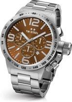TW Steel CB23 Canteen Bracelet Collection - Horloge -  45 mm - Zilverkleurig
