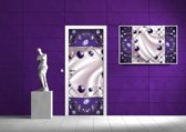 Violet Photomural, wallcovering