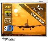 """""""Manueel projectiescherm 72"""" (183cm) - 145 x 109 cm - 4:3 - mét CSR-systeem - beamer scherm"""""""
