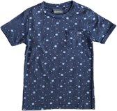 Indian blue stevig zacht indigo blauw shirt - Maat 140