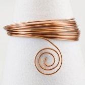 Aluminium draad - Aluminium wire 4mm 10m brown - 1 stuk