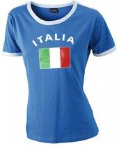 Blauw dames shirt vlag Italie M