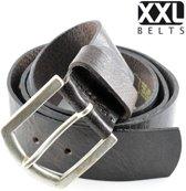 XXL Belts Heren,Damesriem Jeans 1392 - Bruin - 115 cm