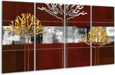 Glasschilderij Modern   Bruin, Grijs, Geel   160x80cm 4Luik   Foto print op Glas    F004864
