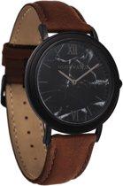 De officiële WoodWatch | Black Marble Pecan | Houten horloge