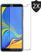 2x Samsung Galaxy A7 (2018) Screenprotector Glazen Gehard | Case Friendly | Tempered Glass