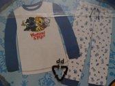 Woezel en Pip Pyjama 104-110 blauw
