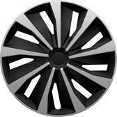 AutoStyle 4-Delige Wieldoppenset Grip 16-inch zilver/zwart