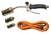 Onex gasbrander-onkruidbrander met 3 opzetstukken