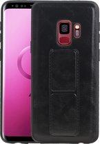 Grip Stand Hardcase Backcover voor Samsung Galaxy S9 Zwart