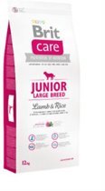 Brit Care hypo-allergeen Junior large breed Lam en Rijst 12kg met 50% vlees!
