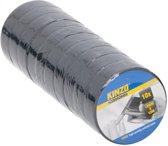 10 rollen isolatie tape - 18 mm x 10 meter - Isolerende tape zwart