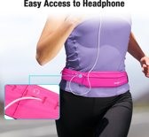 Heupband Running Belt  - ESR  - Hardloopband Sportband Riem met Smartphone Houder – Universeel voor alle telefoons onder andere geschikt voor Apple iPhone X, Samsung Galaxy S9 PLUS & Huawei P20  - kleur Roze & Universeel