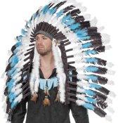 Indianentooi groot blauw/wit/zwart