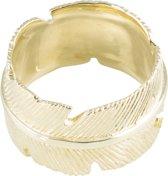 Classics&More - Zilveren Ring Geelgoudverguld met veer