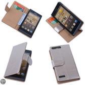 PU Leder Hoesje Huawei Ascend G6 4G Book/Wallet Case/Cover Goud