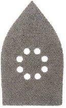 Silverline Driehoekige klittenband gaas schuurvellen, 175 x 105 mm, 10 Stuks 4 x 40, 4 x 80, 2 x 120 korrelgrofte