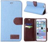 Spijkerstof Wallet iPhone 6(s) plus - Lichtblauw