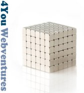 50 Vierkante neodymium magneetjes - 5 x 5 x 5 mm - zeer sterk - neodymium magneet - koelkast - whiteboard