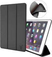 Apple iPad 9.7 (2017 / 2018) Hoes Smart Book Case Siliconen Zwart - Tri-Fold van iCall