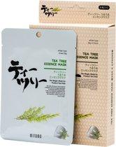 Mitomo Tea Tree Sheet Mask - Japanse Gezichtsmaskers - Rijk Aan Vitamines A en C & Proteïne, Ijzer & Kalium - Gezichtsmasker - Huidverzorging - Skincare - Beauty Mask - Natuurlijke Ingrediënten