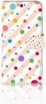 Honor 10 Lite Boekhoesje Design Dots