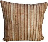 Kopu Bamboo - Sierkussen - 40x40 cm - Bruin