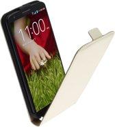 LELYCASE Flip Case Lederen Hoesje LG Nexus 4 Wit