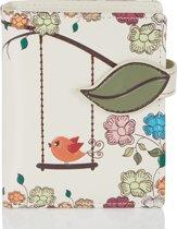 Shagwear Portemonnee - Compact Beugelportemonnee - Dames - Kunstleer - Swing Bird  (0560sm)