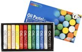 Mungyo Oliepastel, dikte 11 mm, l: 7 cm, diverse kleuren, 12stuks