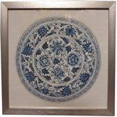 Fine Asianliving Chinese Schilderij Blauwe Bord