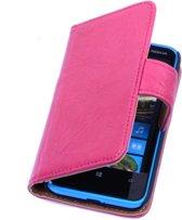 8ea99df6e8d BestCases Stand Fuchsia Luxe Echt Lederen Book Wallet Hoesje Nokia Lumia 900