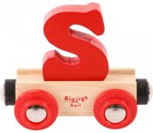 Bigjigs - Rails - Naamtrein - Letter S - Oranje