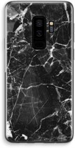 Samsung Galaxy S9 Plus Transparant Hoesje (Soft) - Zwart Marmer 2