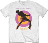 Queen - Bohemian Rhapsody Fearless heren unisex T-shirt wit - XL