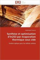 Synth�se Et Optimisation D In2s3 Par �vaporation Thermique Sous Vide