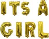 Ballonnen set It's a girl Goud +/- 40 cm