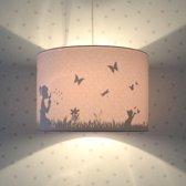 Hanglamp Silhouette Dandelion Roze