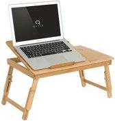 Bedtafel bamboe hout | Tafeltje voor laptop of ontbijt op bed