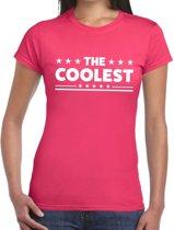 The Coolest tekst t-shirt roze dames - dames shirt  The Coolest M
